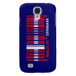 Bar Code Flag Colors DENMARK Design Samsung Galaxy S4 Covers