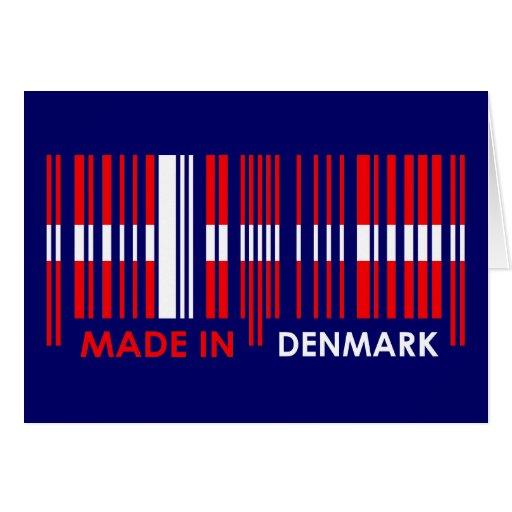 Bar Code Flag Colors DENMARK Design Greeting Card