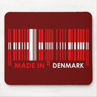 Bar Code Flag Colors DENMARK Design Mouse Pad