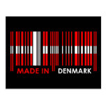 Bar Code Flag Colors DENMARK Design Postcard