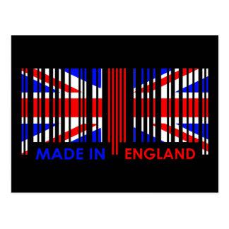 Bar Code Flag Colors ENGLAND Dark Design Postcard