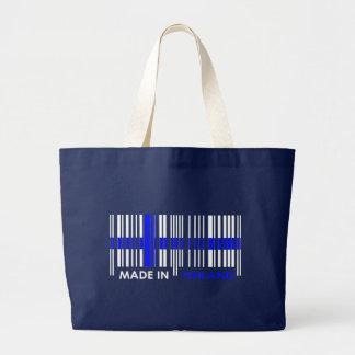 Bar Code Flag Colors FINLAND Design Tote Bag