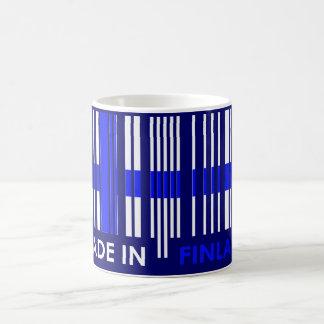 Bar Code Flag Colors FINLAND Design Coffee Mug