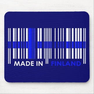 Bar Code Flag Colors FINLAND Design Mouse Pad