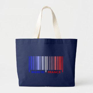 Bar Code Flag Colors FRANCE Design Canvas Bag