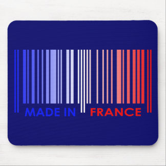 Bar Code Flag Colors FRANCE Design Mouse Pad