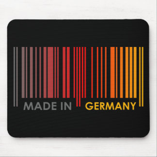 Bar Code Flag Colors GERMANY Dark Design Mouse Pad