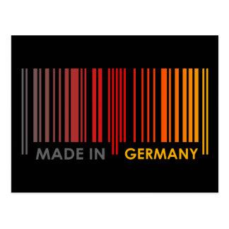 Bar Code Flag Colors GERMANY Dark Design Postcard