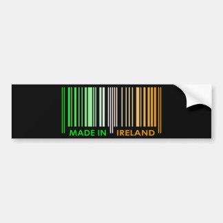 Bar Code Flag Colors IRELAND Dark Design Bumper Sticker
