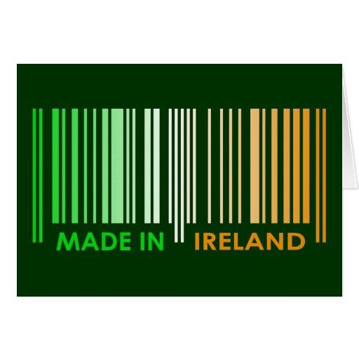 Bar Code Flag Colors IRELAND Dark Design Greeting Card