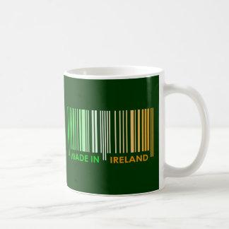 Bar Code Flag Colors IRELAND Dark Design Coffee Mug