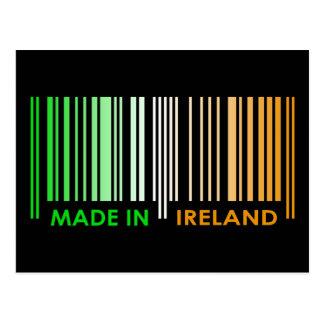 Bar Code Flag Colors IRELAND Dark Design Postcard