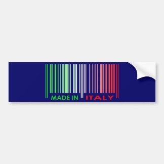 Bar Code Flag Colors ITALY Dark Design Bumper Stickers