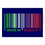 Bar Code Flag Colors ITALY Dark Design Greeting Card
