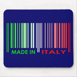Bar Code Flag Colors ITALY Dark Design Mouse Pad