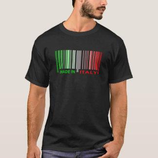 Bar Code Flag Colors ITALY Dark Design T-Shirt