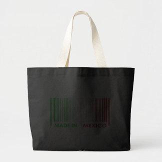 Bar Code Flag Colors MEXICO Dark Design Canvas Bag
