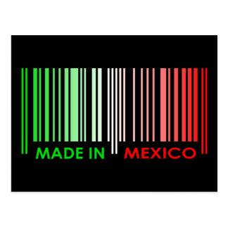 Bar Code Flag Colors MEXICO Dark Design Postcard