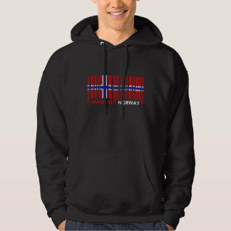 Bar Code Flag Colors NORWAY Design Hoodie