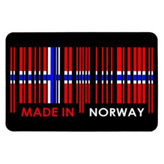 Bar Code Flag Colors NORWAY Design Magnet