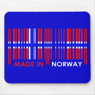 Bar Code Flag Colors NORWAY Design Mouse Pad