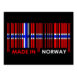 Bar Code Flag Colors NORWAY Design Postcard