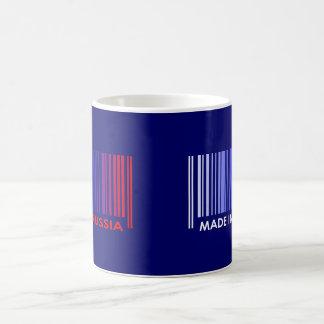 Bar Code Flag Colors RUSSIA Dark Design Coffee Mug