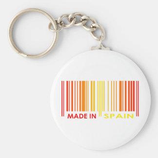 Bar Code Flag Colors SPAIN Design Basic Round Button Keychain