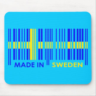 Bar Code Flag Colors SWEDEN Design Mouse Pad