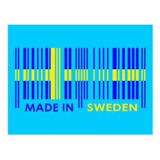 Bar Code Flag Colors SWEDEN Design Postcard