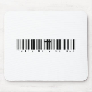 Bar Code Fully Rely On God Mouse Pad