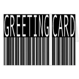 bar code greeting card