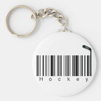 Bar Code Hockey Keychain