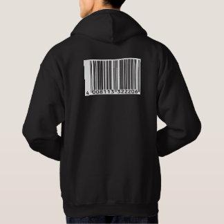 bar code hoodie