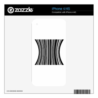 Bar code iPhone 4S skins