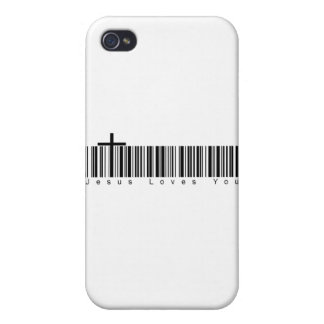 Bar Code Jesus Loves You iPhone 4 Case