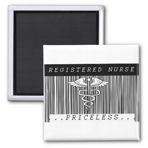 BAR CODE RN - PRICELESS! REGISTERED NURSE 2 INCH SQUARE MAGNET