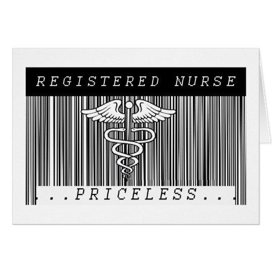 BAR CODE RN - PRICELESS! REGISTERED NURSE CARD