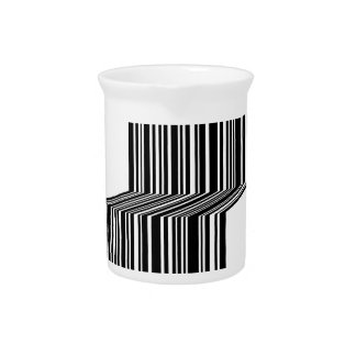 Bar code shaped like a bench beverage pitcher