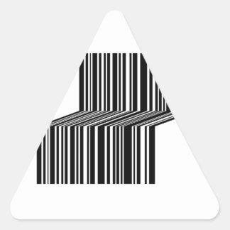 Bar code shaped like a bench triangle sticker