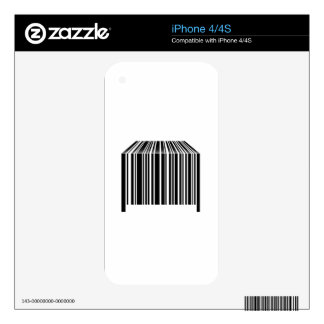 Bar code shaped like table decals for iPhone 4S