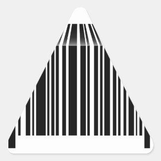 Bar code shaped like table triangle sticker
