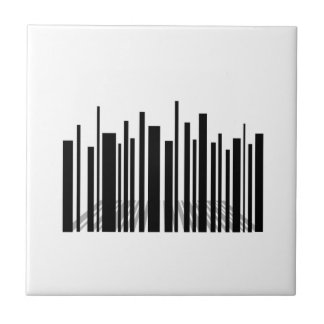 Bar code skyscraper ceramic tile