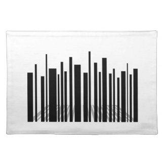Bar code skyscraper placemat