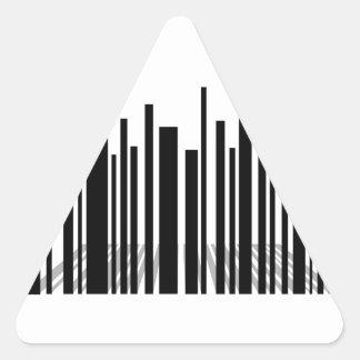 Bar code skyscraper triangle sticker