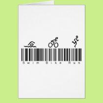 Bar Code Swim Bike Run Card