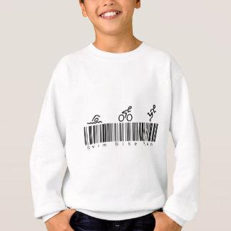 Bar Code Swim Bike Run Sweatshirt