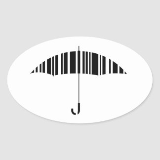 Bar code umbrella oval sticker