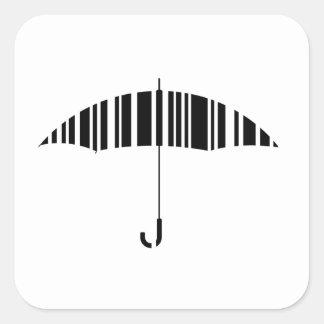 Bar code umbrella square sticker