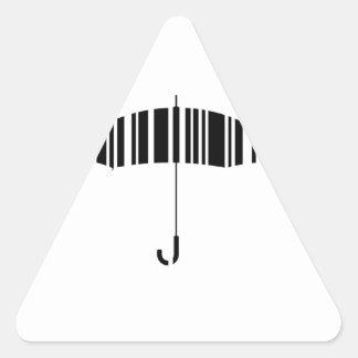 Bar code umbrella triangle sticker
